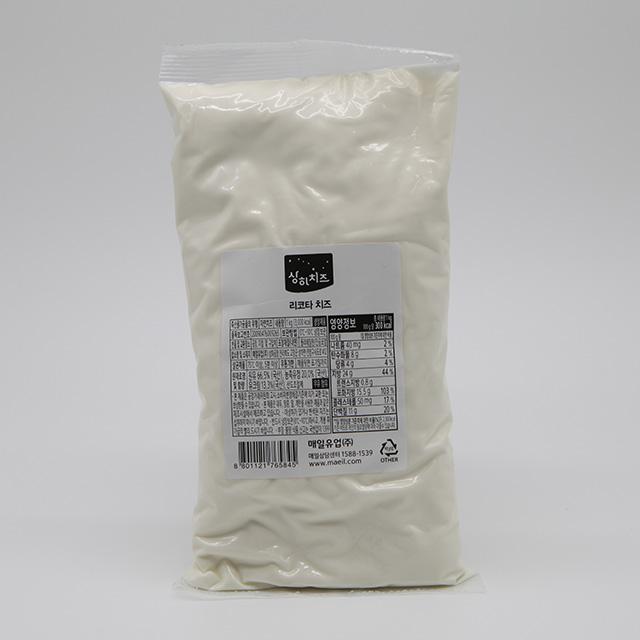 매일 냉장 리코타치즈BS 파우치 1kg, 단품