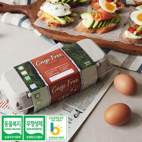 소원농장 무항생제 동물복지 유정란 계란 달걀, 20구