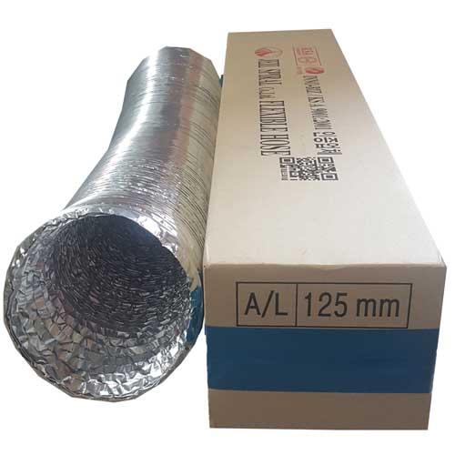 제조사사정에따라변경 은박 후렉시블 직경 (75mm~150mm) 5M 알루미늄 알루미늄덕트호스 환풍기자바라, 1개