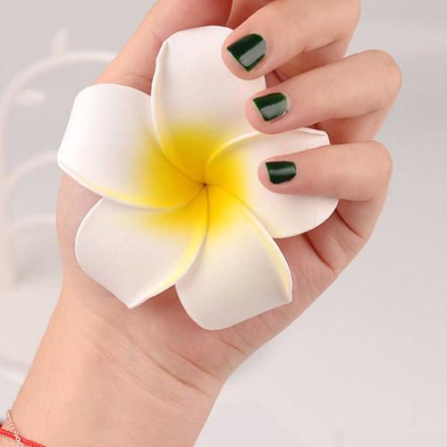 빅걸스토리 셀프웨딩 하와이 플루메리아 꽃머리핀 휴양지 꽃핀