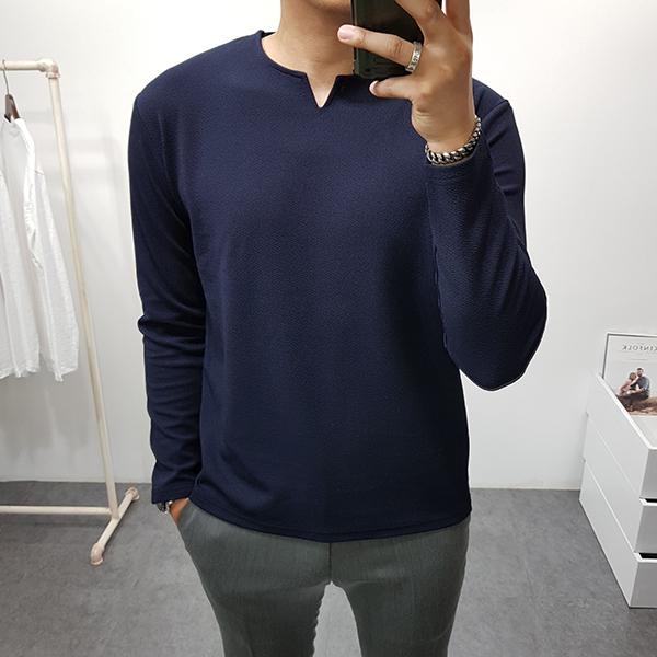 구스마켓 남자 가을 리버풀 브이 트임 긴팔 티셔츠