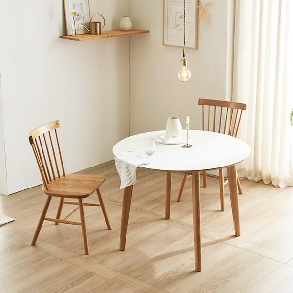 데코룸 바네사원형테이블(1000) 원형식탁 원형테이블, 화이트
