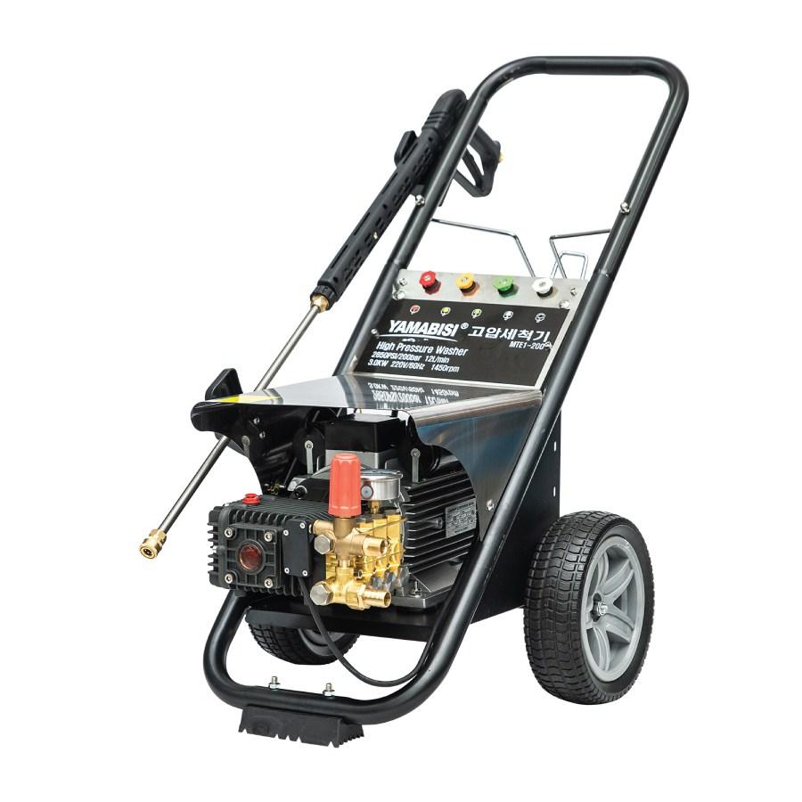 야마비시 전기고압세척기 MTE1-200 단상 오토메틱 4마력 200바 정품 아노비펌프 채용