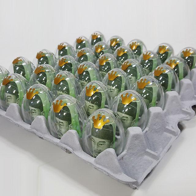 제이벌룬 계란한판 이벤트DIY세트[계란판 뚜껑+투명에그캡슐+리본+토퍼]
