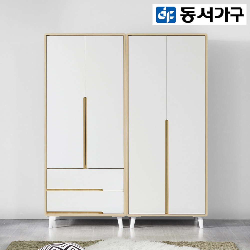 [동서가구/착불] 밀크 1600옷장세트 DF909050, 메이플화이트
