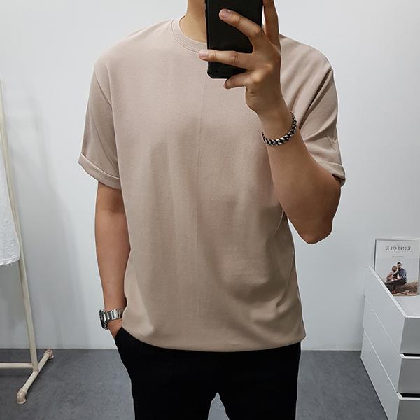 구스마켓 남자 여름 카브라 반팔 티셔츠, 베이지