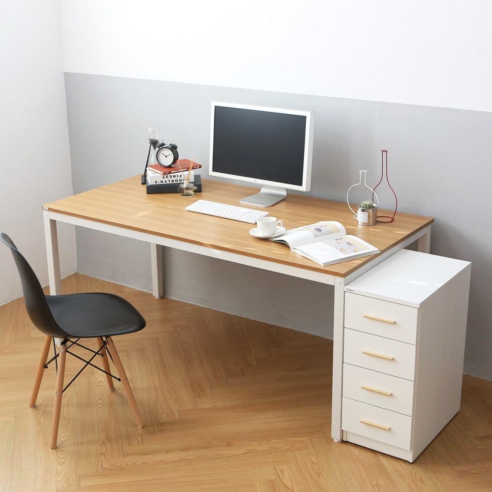 다가구 프래그마 1200 x 600 컴퓨터책상, 지브라 상판+아이보리 프레임