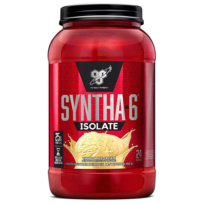 비에스엔 신타-6 아이솔레이트 프로틴 파우더 드링크 믹스 단백질 보충제, 912g, 바닐라 아이스 크림(Vanilla Ice Cream)