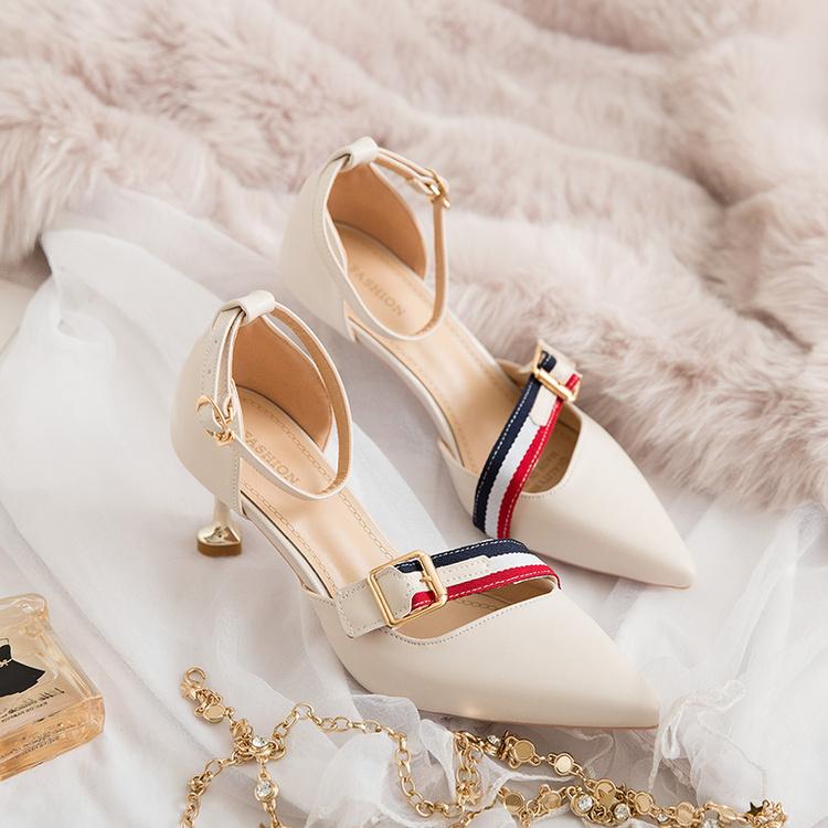 캐주얼 하이힐 포인트 패션 신발 구두 버클 포인트 힐 8