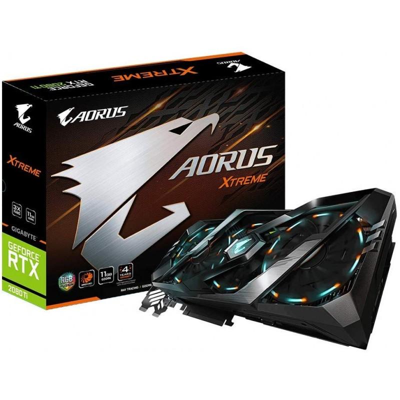 GIGABYTE NVIDIA GeForce RTX 2080Ti 탑재 그래픽 카드 11GB AOURUS 시리즈 GV-N208TAORUS X-11GC, 단일상품