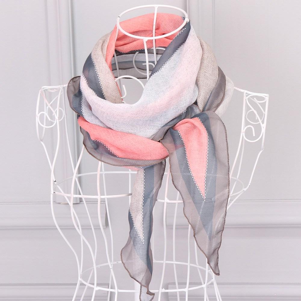 앙상블 국산 분할 마름모 여성 스카프
