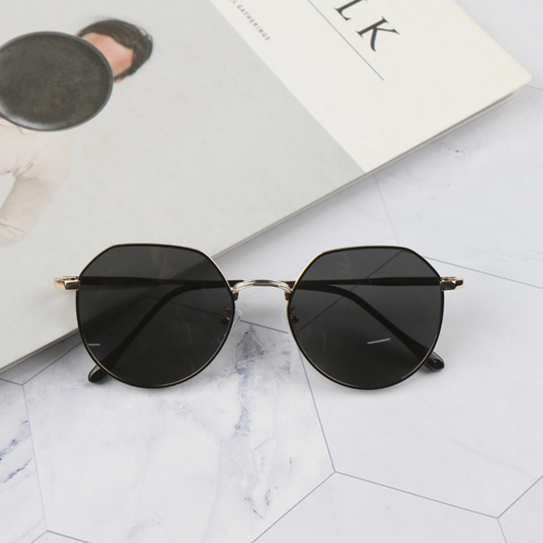 더브릴레 다각형 오버사이즈 미러 편광 선글라스
