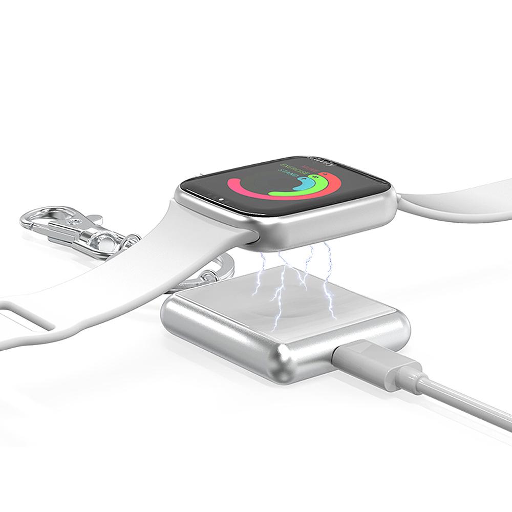 UNIQBLE 애플워치 휴대용 마그네틱 급속 무선충전패드 미니 충전독, 애플워치충전기 블랙-WAW1003, 1개