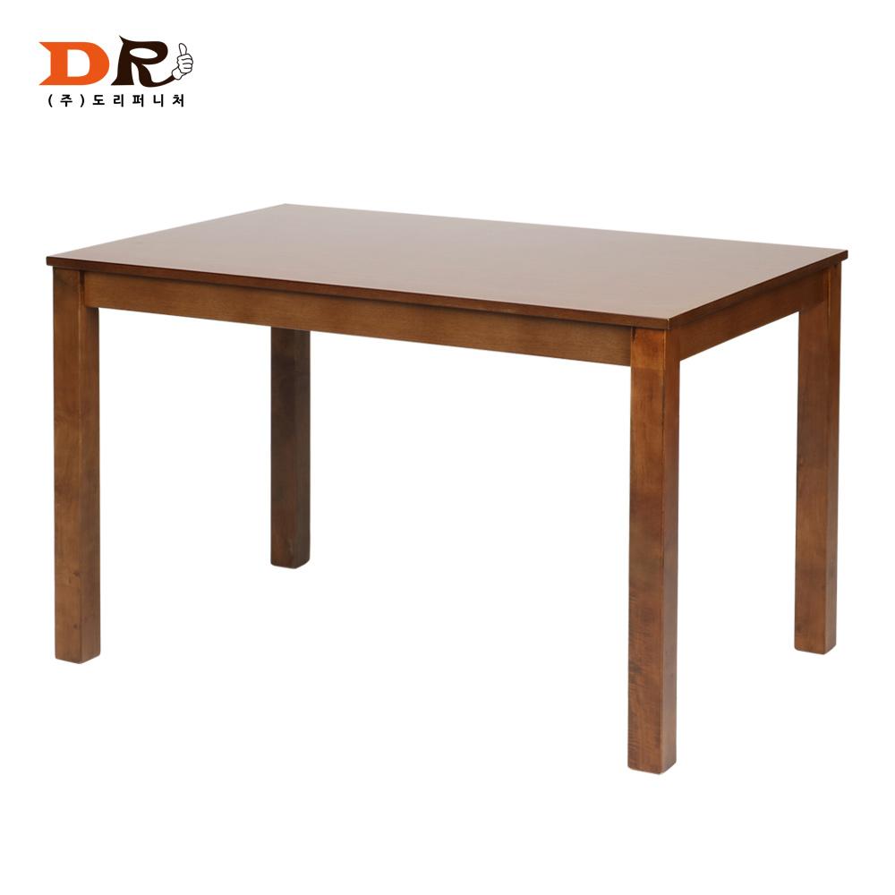 도리퍼니처 캐빈4인 고무나무 원목 식탁 /테이블 가정용 업소용, 우드