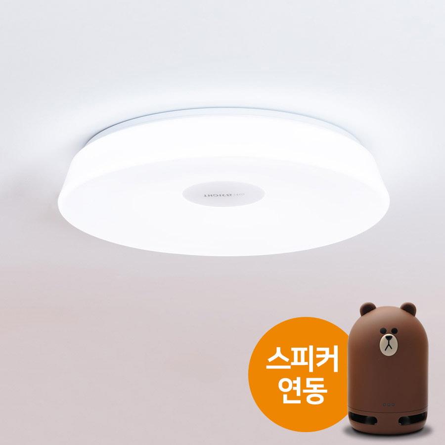 오브라이트 IoT 방등(40W) 네이버 클로바 프렌즈 스피커 연동 천장등/실링라이트, 원형