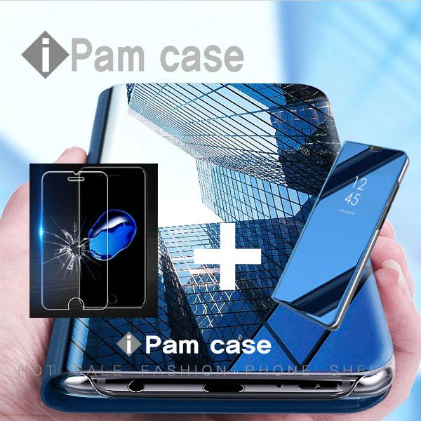 아이팜-8 케이스+강화필름 갤럭시 s10 s10e s10 플러스 SM-G970 SM-G973 SM-G975 클리어 뷰 하드 핸드폰 케이