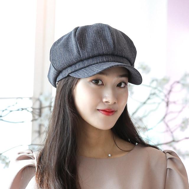 베리플로피 헌팅캡 봄 여름 여성모자 메쉬 안감 팔각모 테보리 (5컬러)