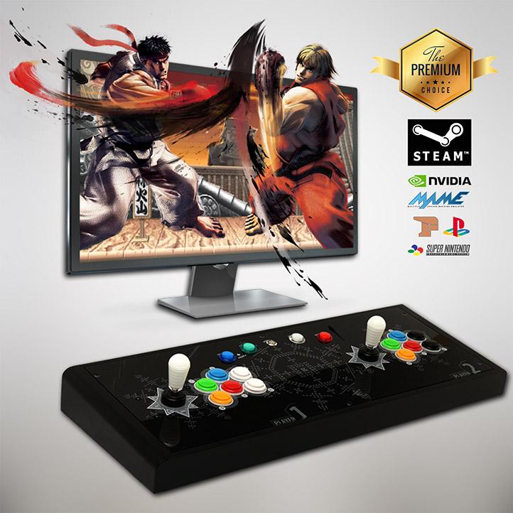 도담레트로 아케이드 가정용 오락실 게임기 A-MARK ZERO 레트로 고전게임, A-MARK ZERO (일반형/다크블랙)