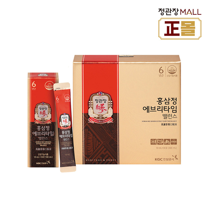 정관장몰 홍삼정 에브리타임 밸런스10mlx30, 10ml, 30포