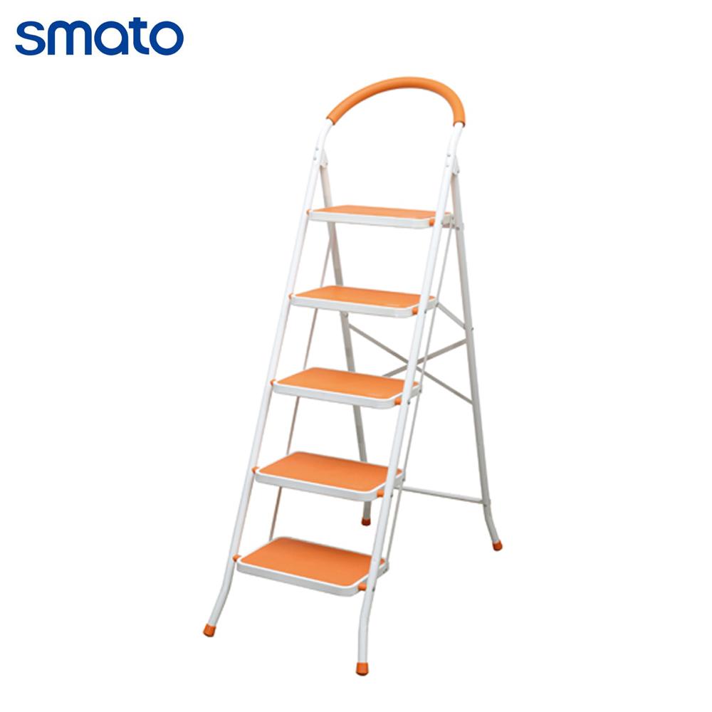 스마토 가정용 사다리 5단 (오렌지) 접이식사다리 계단식 (POP 196513596)