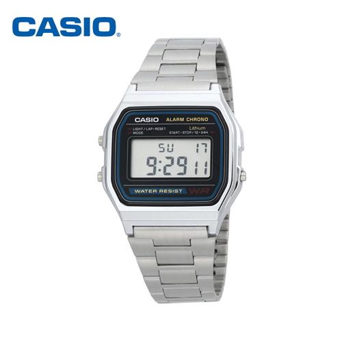 카시오 남여공용 메탈 디지털 명품 시계 A158WA-1DF / CASIO