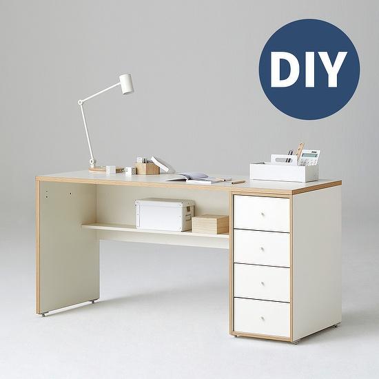 한샘 샘 책상 150cm 하부서랍형 DIY, 색상:우형/네이비/네이비(N)