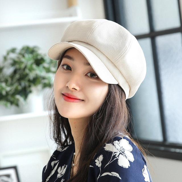 베리플로피 헌팅캡 봄 여름 여성모자 사이즈조절 코튼 팔각모 나이스 (5컬러)