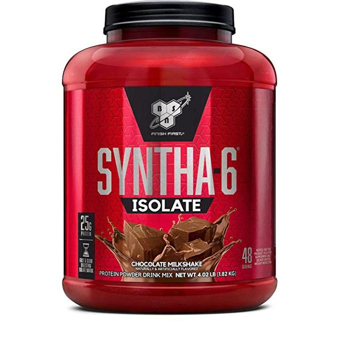 비에스엔 신타-6 아이솔레이트 프로틴 파우더 드링크 믹스 단백질 보충제, 1.82kg, 초콜릿 밀크셰이크(Chocolate Milkshake)