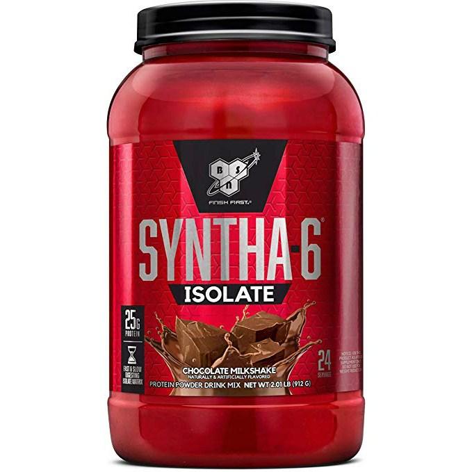 비에스엔 신타-6 아이솔레이트 프로틴 파우더 드링크 믹스 단백질 보충제, 912g, 초콜릿 밀크셰이크(Chocolate Milkshake)