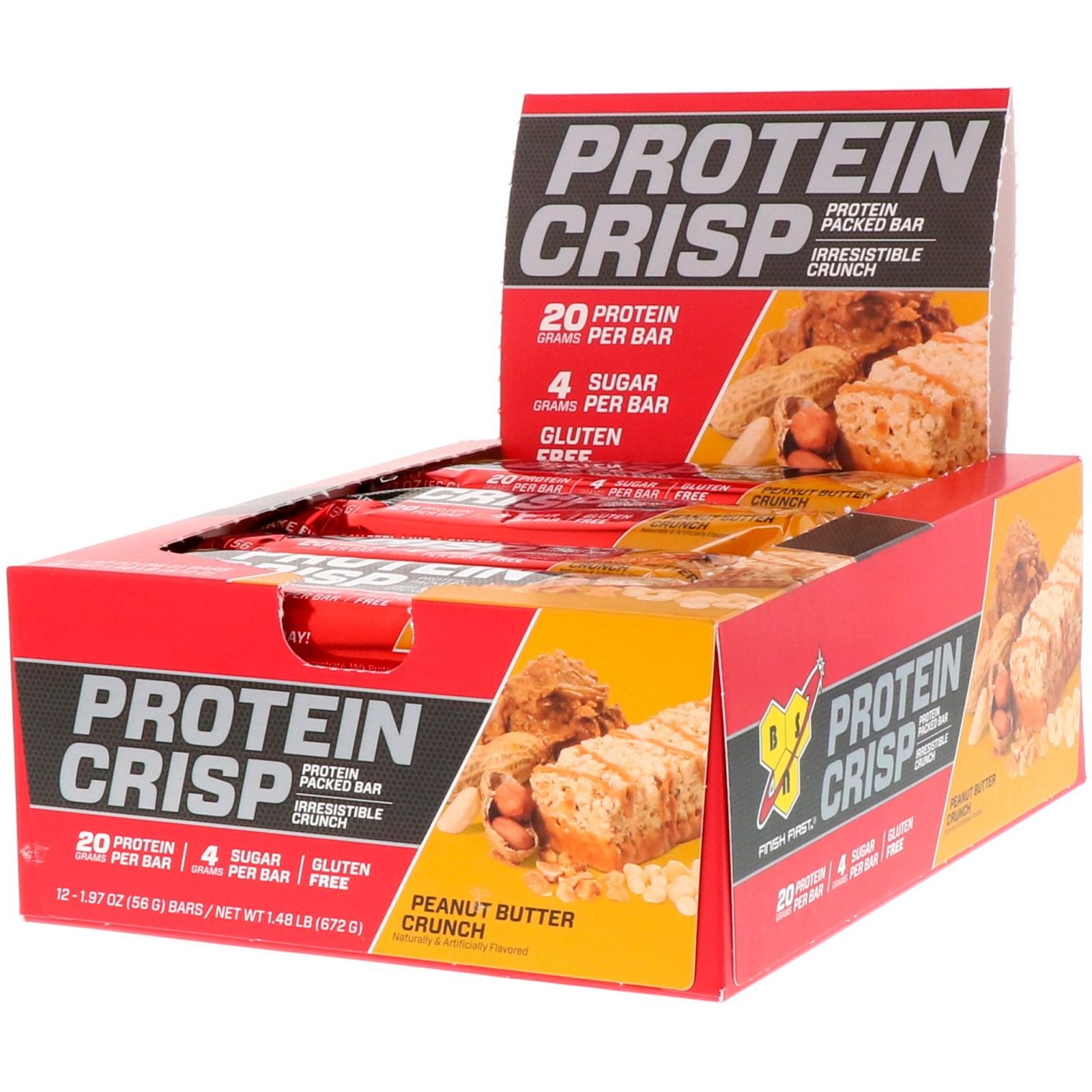 비에스엔 프로틴 크리스프 바 12개입, 피넛 버터 크런치(Peanut Butter Crunch), 1개
