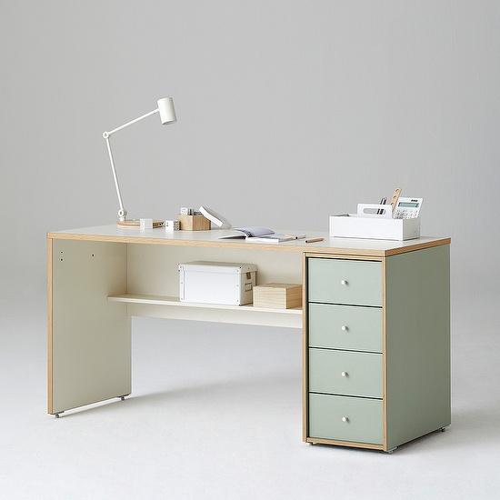 한샘 샘 책상 150cm 하부서랍형 시공, 색상:우형/크림화이트/크림화이트(H)