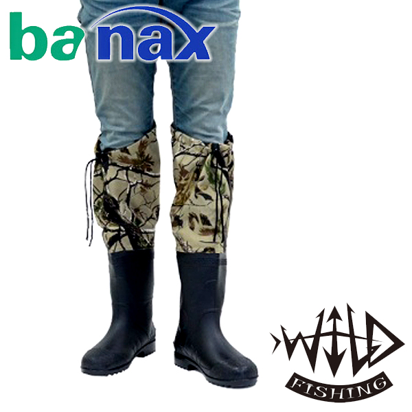 바낙스 와일드피싱 무릅장화 낚시장화 여성용장화, 발목장화 3L(280-285)