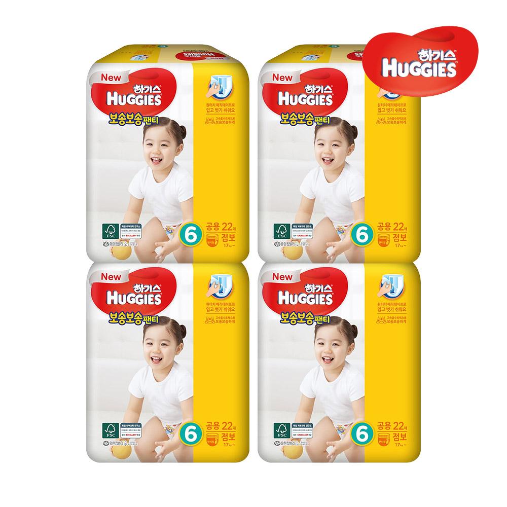 하기스 보송보송 팬티형 6단계 22개 4박스, 단품