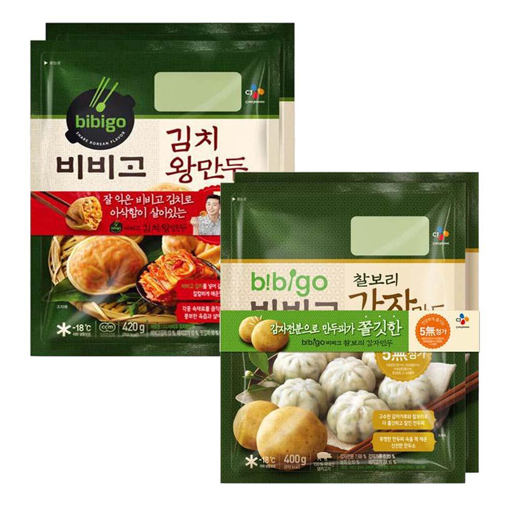 (냉동)비비고 김치왕만두420gx2개+찰보리감자만두400gx2개, 1세트