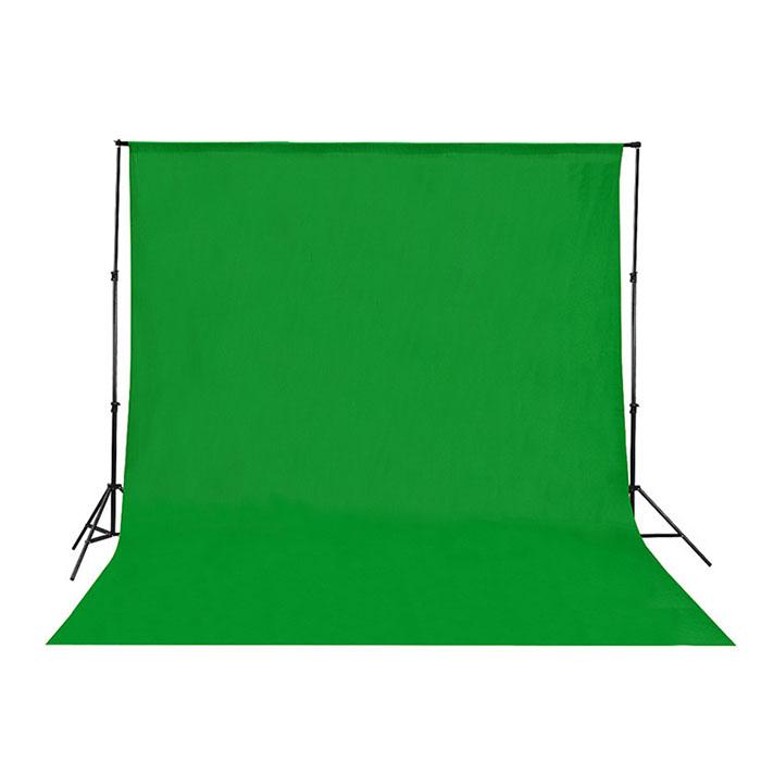 크로마키 배경천 1.5M x 3M 개인방송 촬영 배경지, 그린 1.5x 3M