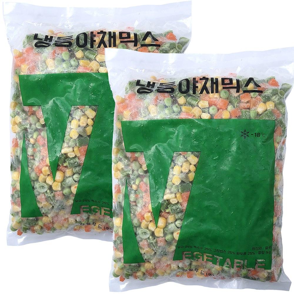 힘찬푸드 냉동채소모음전, 1세트, 15_야채믹스1kg+야채믹스1kg