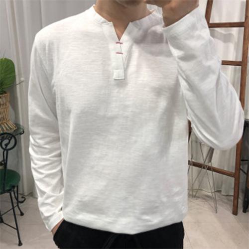 프롬엘 남자 스티치 트임 차이나 헨리넥 긴팔티셔츠(3COLOR) 긴팔 티셔츠