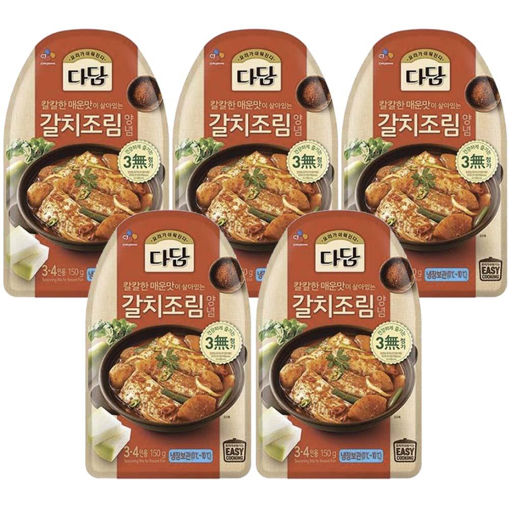 (냉장)다담 갈치조림양념150gx5개, 1세트