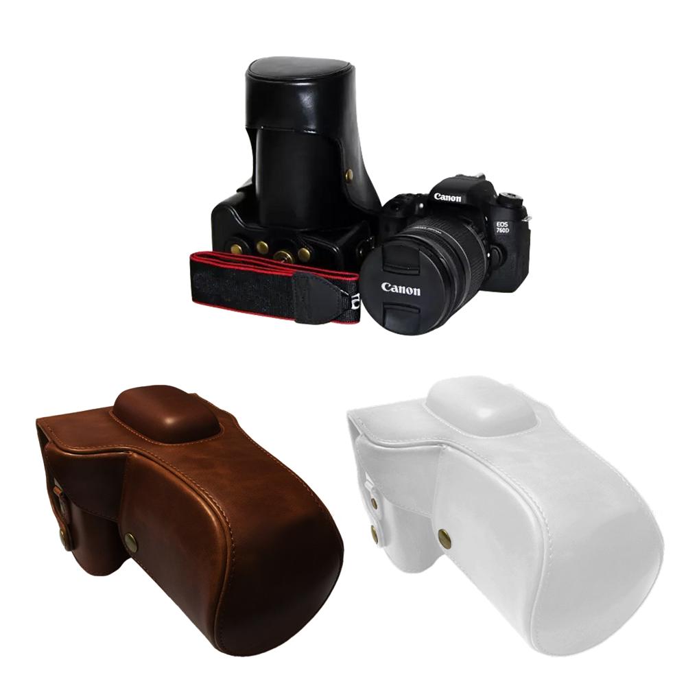 아이디스킨 캐논 Canon EOS 100D PU가죽케이스 속사케이스, 1개, 캐논 EOS 100D 가죽케이스_브라운