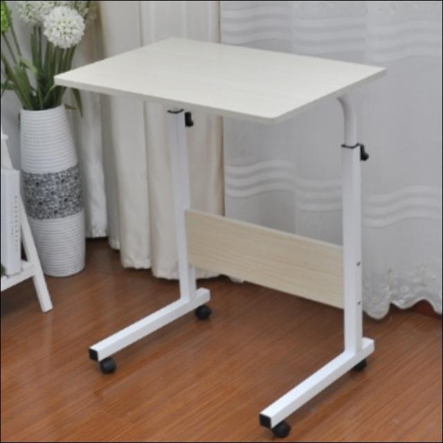 스탠딩 미니 사이드 책상 높이조절 원룸 거실 침대 밥상 노트북 테이블, 사이드60표준B형-아이보리