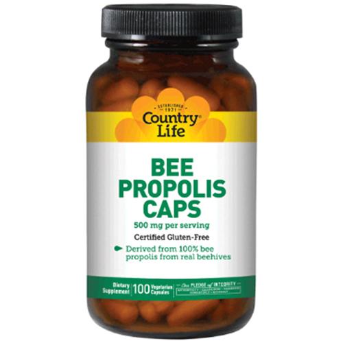 Country Life 비 프로폴리스 캡 500 mg 베지테리안 캡슐, 100개입, 1개