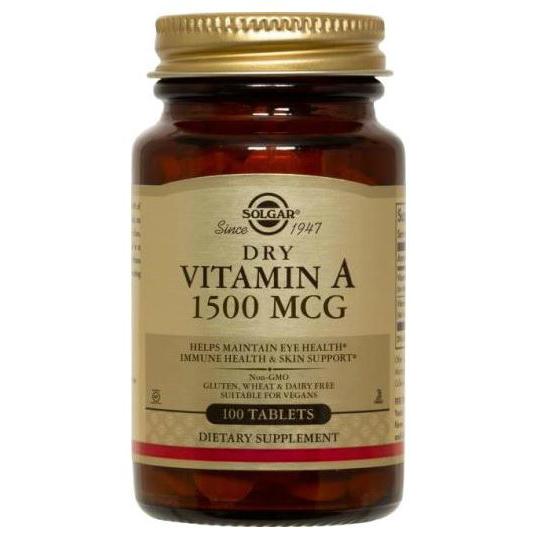 솔가 드라이 비타민A 1500mcg 타블렛, 100개입, 1개