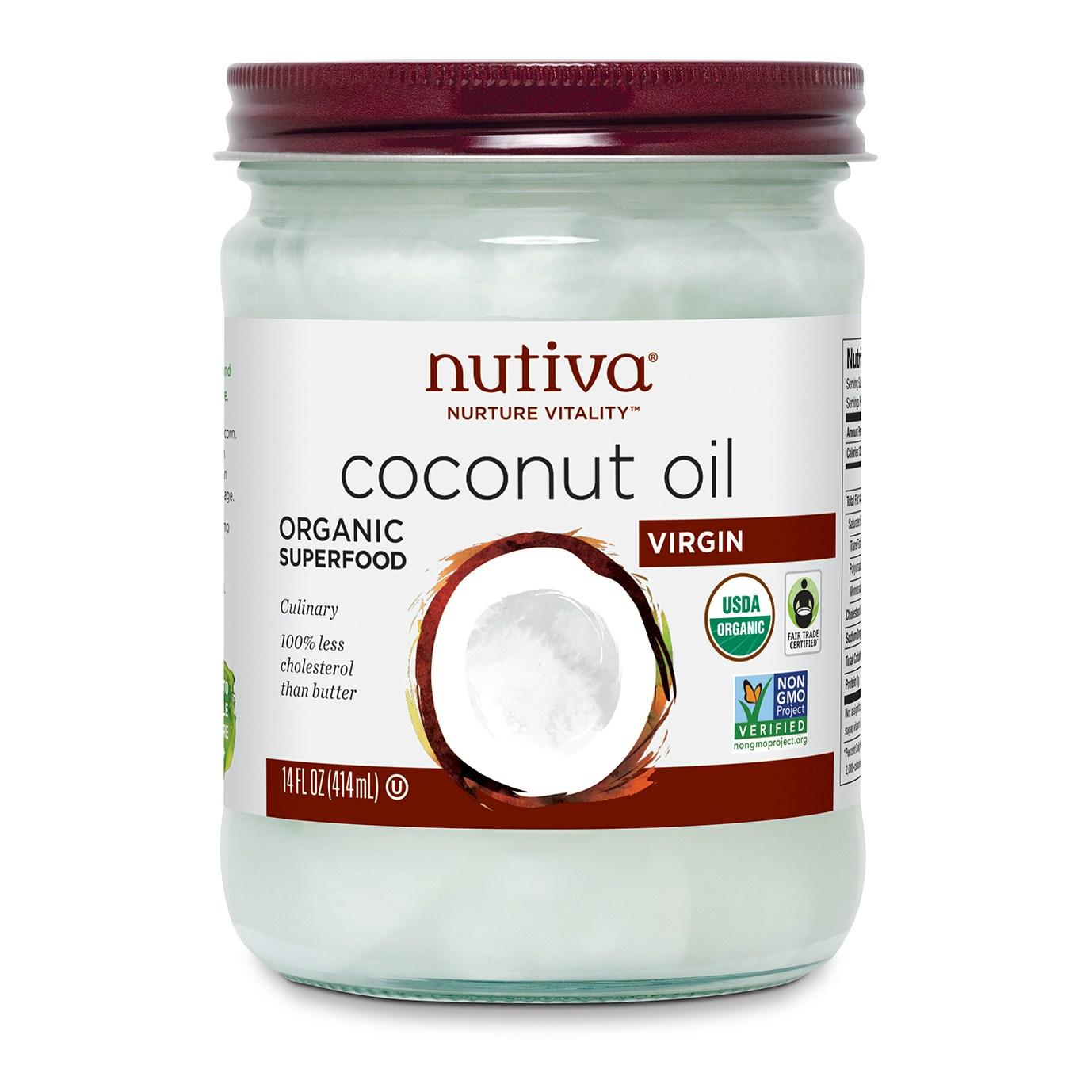누티바 코코넛 오일 버진, 414ml, 1개