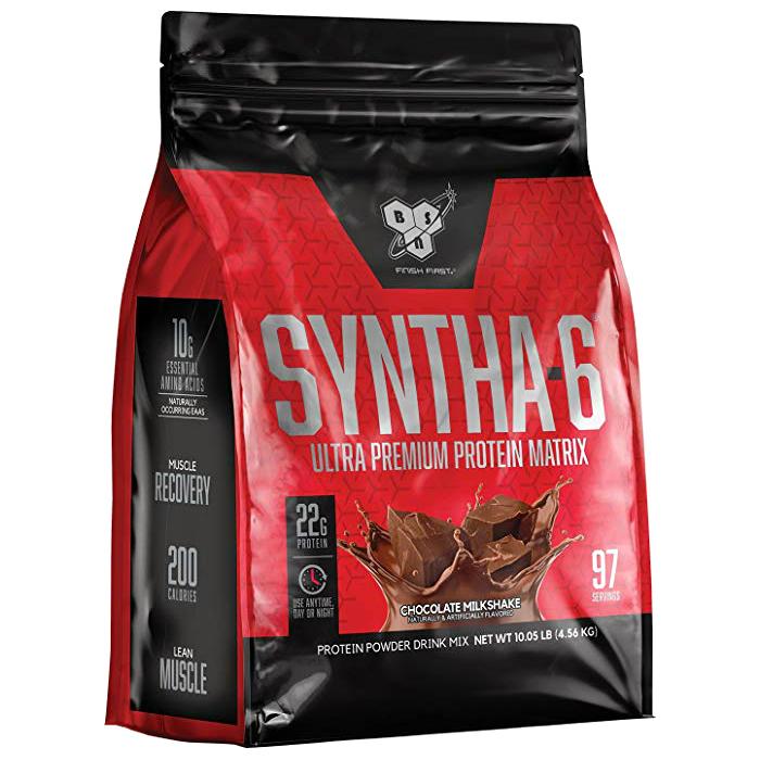 비에스엔 신타-6 프로틴 파우더 드링크 믹스 단백질 보충제, 초콜릿 밀크셰이크(Chocolate Milkshake), 4.56kg
