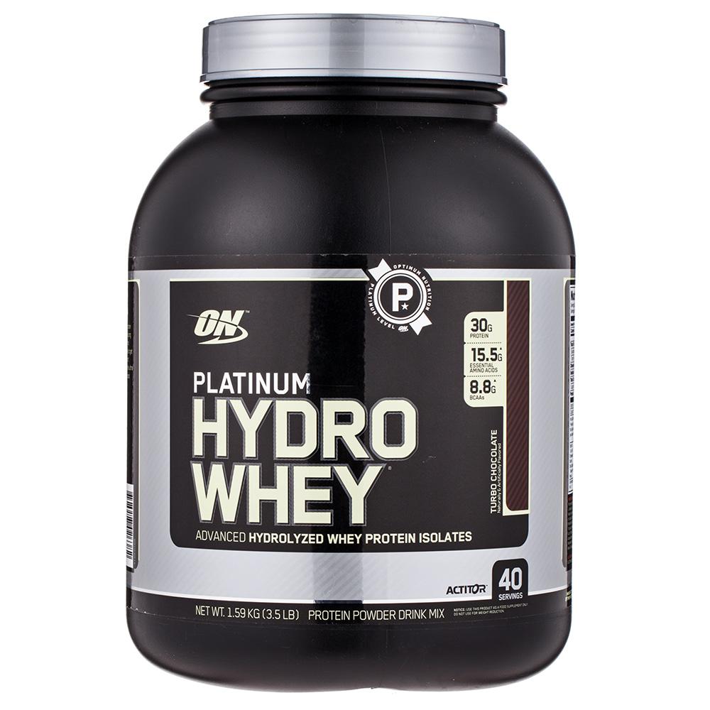 옵티멈뉴트리션 플래티넘 하이드로 웨이 프로틴 아이솔레이트 단백질 보충제 터보 초콜릿, 1.59kg, 터보 초콜릿(Turbo Chocolate)