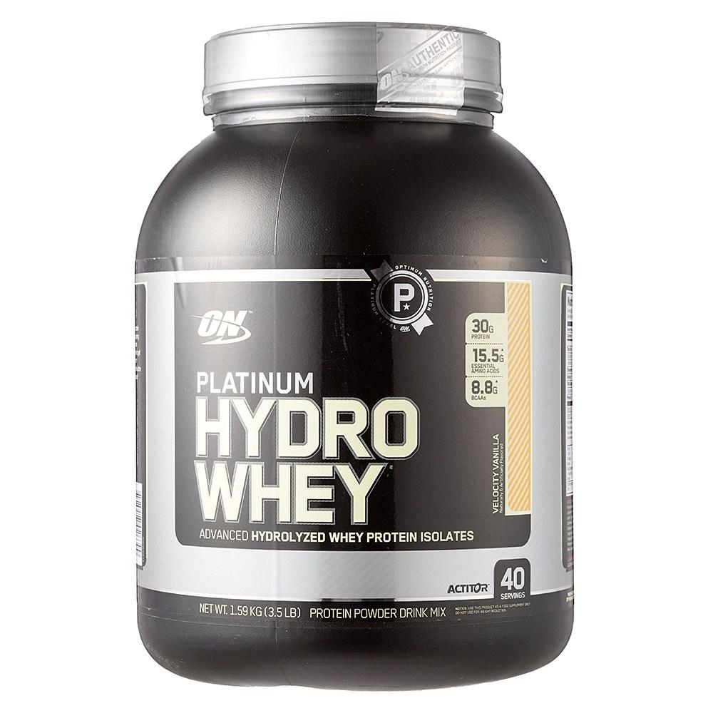 옵티멈뉴트리션 플래티넘 하이드로 웨이 프로틴 아이솔레이트 단백질 파우더, 1.59kg, 벨로시티 바닐라(Velocity Vanilla)