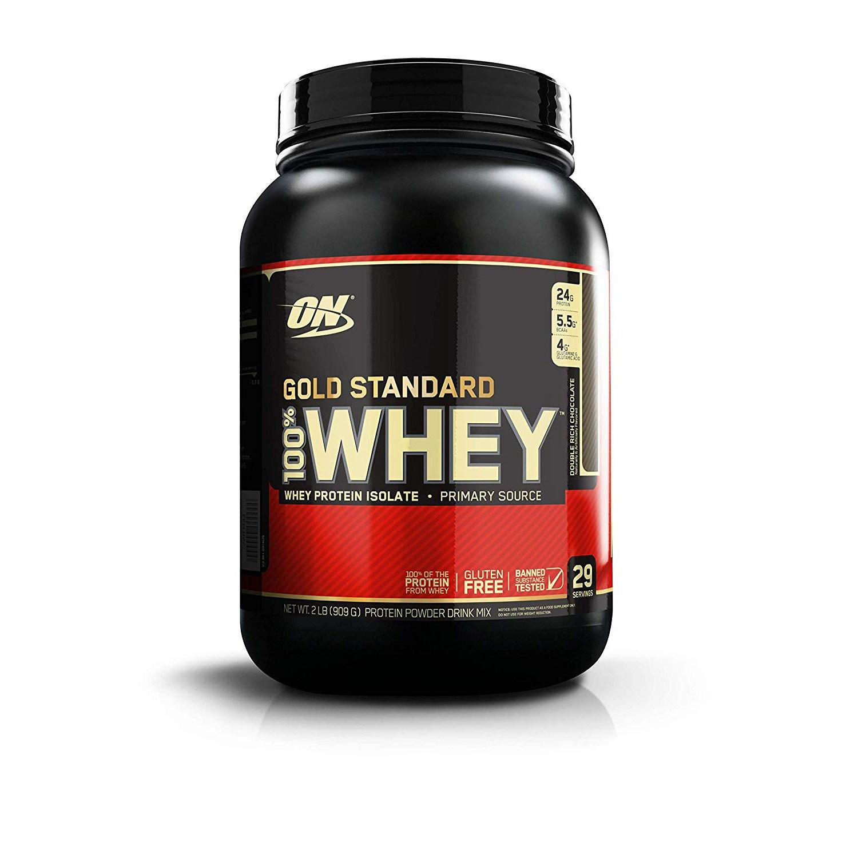 옵티멈뉴트리션 골드 스탠다드 웨이 프로틴 아이솔레이트 단백질 보충제 더블 리치 초콜릿, 909g, 1개