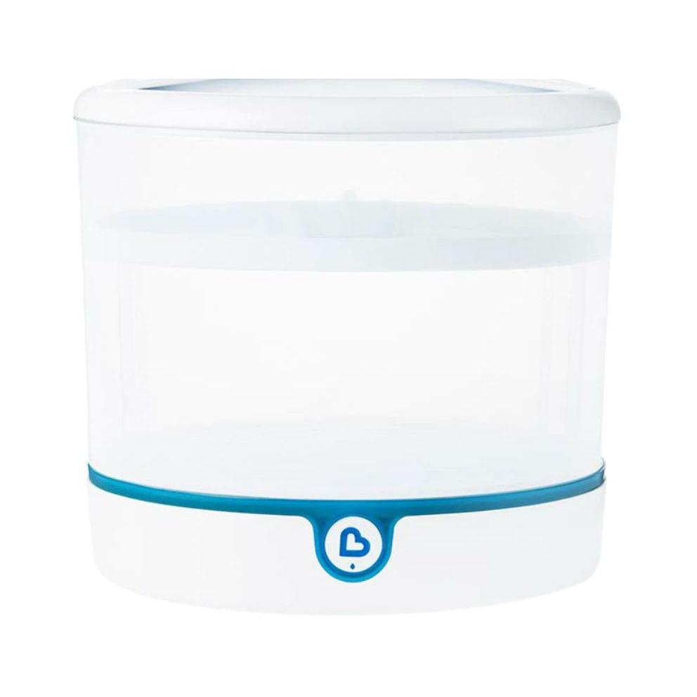 먼치킨 클린 일렉트릭 스테럴라이저 젖병소독기, White + Blue, MKCL0573