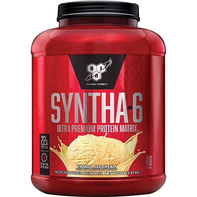 비에스엔 신타-6 프로틴 파우더 드링크 믹스 단백질 보충제, 바닐라 아이스크림(Vanilla Ice Cream), 2.27kg