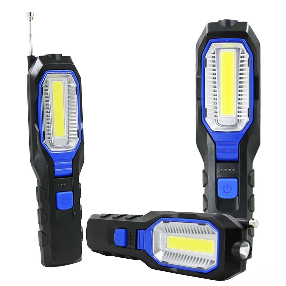 픽업툴추가된 LED COB 랜턴 작업등 손전등 후레쉬 자석 6302B, 단일상품, 단일상품